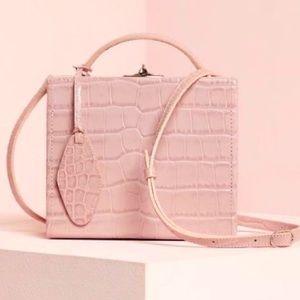 Pop & Suki Customized Mauve Croc Box Bag